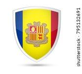 andorra flag vector shield icon ... | Shutterstock .eps vector #795132691