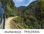 tour bus travelling in the... | Shutterstock . vector #795135331
