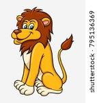 lion cartoon character vector.... | Shutterstock .eps vector #795136369