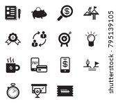 solid black vector icon set  ... | Shutterstock .eps vector #795139105