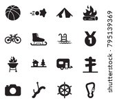 solid black vector icon set  ... | Shutterstock .eps vector #795139369