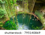 ik kil cenote near chichen itza ... | Shutterstock . vector #795140869