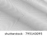 black and white dotted halftone ... | Shutterstock .eps vector #795143095