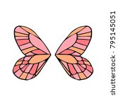 butterfly wings vector... | Shutterstock .eps vector #795145051