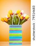 tulips in the bag against... | Shutterstock . vector #79514683