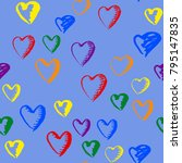 gay pride rainbow colored... | Shutterstock .eps vector #795147835
