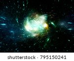 stars  dust and gas nebula in a ...   Shutterstock . vector #795150241