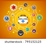 medical flat icon concept.... | Shutterstock .eps vector #795152125