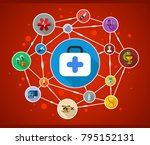medical flat icon concept.... | Shutterstock .eps vector #795152131