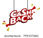 red and yellow tag cash back | Shutterstock .eps vector #795157681