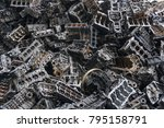 scrap yard for recycle the... | Shutterstock . vector #795158791