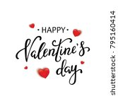 happy valentines day typography ... | Shutterstock . vector #795160414