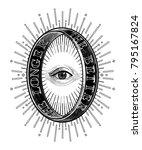 ornate mystic eye inside the... | Shutterstock .eps vector #795167824
