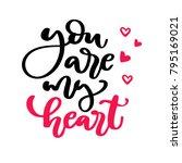 valentine s day vector... | Shutterstock .eps vector #795169021