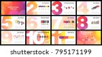 business presentation templates.... | Shutterstock .eps vector #795171199