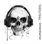 skull illustration.t shirt... | Shutterstock . vector #795172351