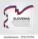 slovenia flag background | Shutterstock .eps vector #795173794