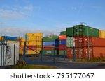 senov  czech republic   moravia ... | Shutterstock . vector #795177067