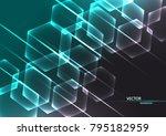 abstract scientific background... | Shutterstock .eps vector #795182959