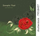 greeting card with roses | Shutterstock .eps vector #79518457