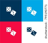 dices four color material and...
