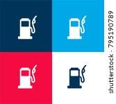 gasoline pump four color...
