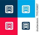 cpu processor four color...