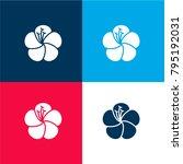 hibiscus four color material...