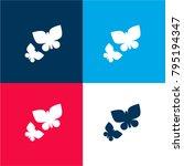 two butterflies four color...