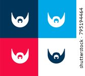 man with beard four color... | Shutterstock .eps vector #795194464