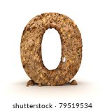 3d Stone Number Isolated