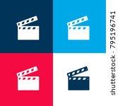 cinema clapperboard four color...