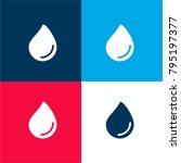 paint drop four color material...
