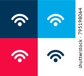 wifi signal four color material ...