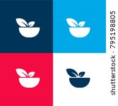 bowl with vegetables four color ...   Shutterstock .eps vector #795198805