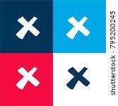 delete cross four color...