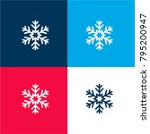 snowflake four color material...