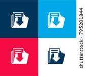 save file button four color...