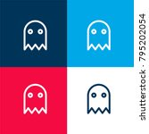 halloween ghost four color... | Shutterstock .eps vector #795202054