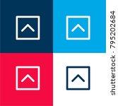 up arrow fold button four color ...