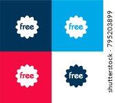free sticker four color...