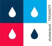raindrop close up four color...