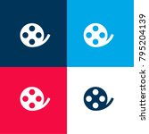 flim roll four color material... | Shutterstock .eps vector #795204139