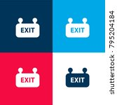 exit sign four color material...