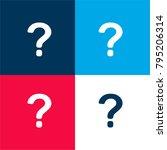 question mark four color...