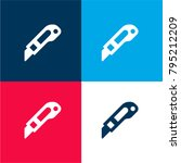 cutter four color material and... | Shutterstock .eps vector #795212209