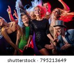 dance party with group people... | Shutterstock . vector #795213649