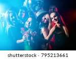 dance party with group people... | Shutterstock . vector #795213661