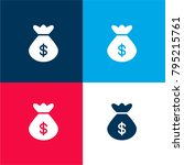money bag four color material...