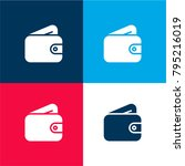 wallet four color material and...
